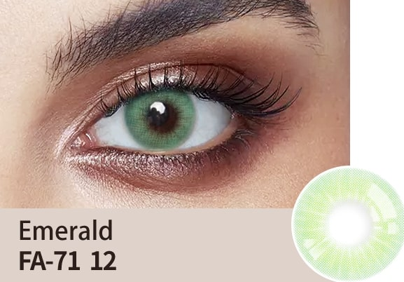 emerald colour lens