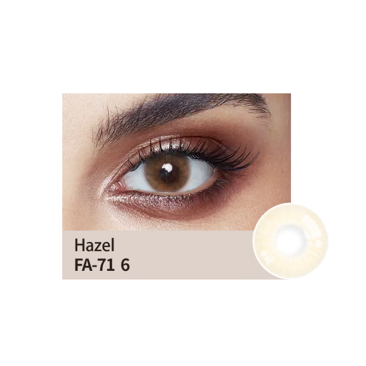hazel colour lens